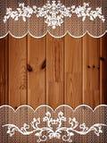 Fond en bois avec la trame de lacet photos libres de droits
