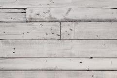 Fond en bois blanc de texture de planche Photos stock