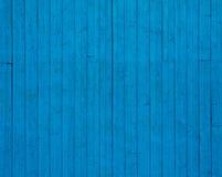 Fond en bois bleu de mur Image libre de droits