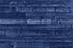 Fond en bois bleu de planches Texture en bois bleue Image libre de droits