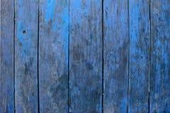 Fond en bois bleu de textrue Images libres de droits