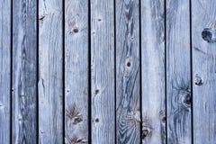 Fond en bois bleu lumineux de texture de lamelles Photographie stock libre de droits