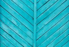 Fond en bois bleu profond coloré lumineux Photos stock