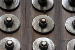 Fond en bois boulonné Photographie stock libre de droits