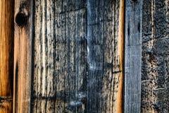 Fond en bois brûlé Images libres de droits