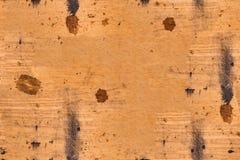 Fond en bois brûlé sale brun sans couture Images libres de droits
