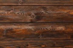 Fond en bois, bureau rayé brun de bois de construction, vieille table ou plancher Photos libres de droits