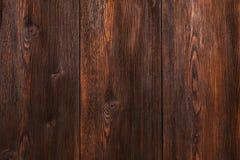 Fond en bois, bureau rayé brun de bois de construction, vieille table ou plancher Photographie stock libre de droits