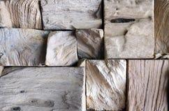 Fond en bois carrelé de mur de texture de vieux teck pour la conception et la décoration Texture du plan rapproché en bois de fon photos stock