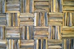 Fond en bois carrelé de mur de texture de vieux teck pour la conception et la décoration Texture du plan rapproché en bois de fon photographie stock libre de droits