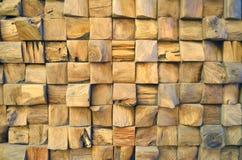 Fond en bois carrelé de mur de texture de vieux teck pour la conception et la décoration Texture du plan rapproché en bois de fon images stock