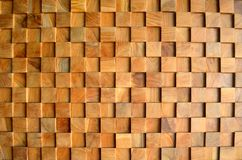 Fond en bois carrelé de mur de texture de vieux teck pour la conception et la décoration Texture du plan rapproché en bois de fon photographie stock