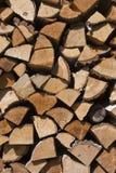 Fond en bois choping de mur de mélange dur et mou Photo stock