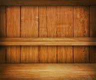 Fond en bois d'étagère de chêne Image stock