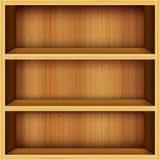 Fond en bois d'étagères Photographie stock libre de droits