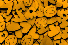 Fond en bois d'abrégé sur forme de coeur pour des histoires d'amour concentrées Photos stock