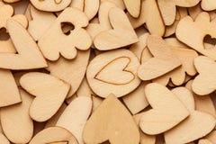 Fond en bois d'abrégé sur forme de coeur pour des histoires d'amour concentrées Images stock