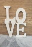Fond en bois d'amour Photographie stock libre de droits