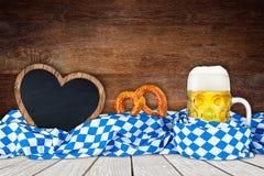 Fond en bois d'Oktoberfest Photographie stock