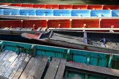 Fond en bois de bateaux Image libre de droits