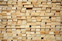 Fond en bois de bois de construction Images libres de droits