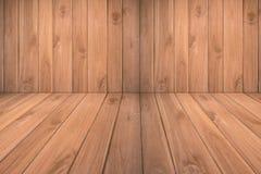 Fond en bois de brun de planche Photo libre de droits