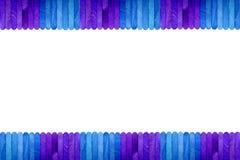 Fond en bois de cadre de bâton de glace de couleur Images libres de droits