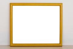 Fond en bois de cadre de photo Photos stock
