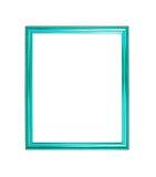 Fond en bois de cadre de photo de couleur bleue Photos libres de droits