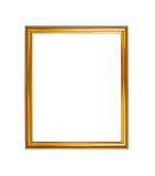 Fond en bois de cadre de photo de couleur d'or Photos libres de droits