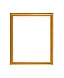 Fond en bois de cadre de photo de couleur d'or Photo libre de droits