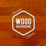 Fond en bois de cru Image libre de droits