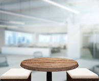 Fond en bois de dessus de Tableau dans le bureau Photos libres de droits