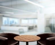 Fond en bois de dessus de Tableau dans le bureau Images libres de droits