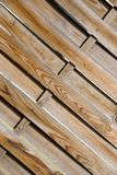 Fond en bois de frontière de sécurité Images stock