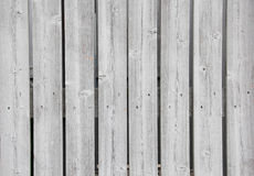 Fond en bois de Grey Board Fence Nails et de noeuds Images stock