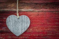 Fond en bois de grunge de coeur d'amour Photo libre de droits