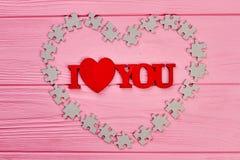 Fond en bois de jour de valentines Images libres de droits