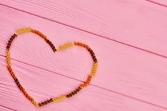 Fond en bois de jour de valentines Image stock