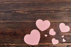 Fond en bois de jour de valentines Images stock