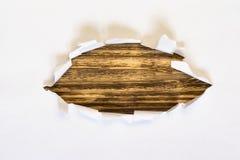 Fond en bois de livre blanc déchiré Image stock