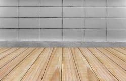 Fond en bois de mur Images libres de droits