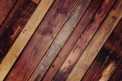 Fond en bois de mur Photographie stock libre de droits