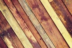Fond en bois de mur avec les frontières noires de vignette Image stock