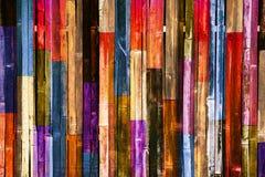 Fond en bois de mur de couleur Photographie stock libre de droits