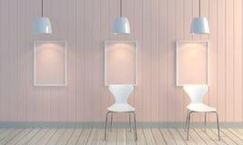 Fond en bois de mur de couleur en pastel Photo libre de droits