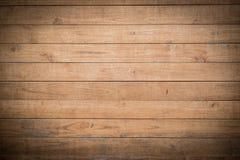 Fond en bois de mur de planche de Brown Photo stock