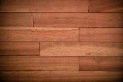 Fond en bois de mur de planche de Brown Photographie stock libre de droits
