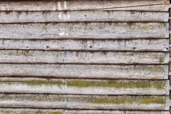 Fond en bois de mur de rondin Photos stock