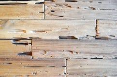 Fond en bois de mur de texture de vieux teck pour la conception et la décoration Texture du plan rapproché en bois de fond photos libres de droits